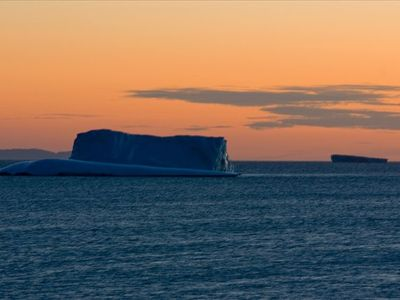 Iceberg in Sunset off Crow Head , Twillingate Island