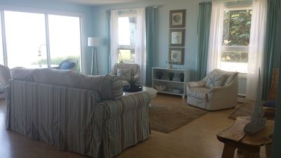 The Living Room - great views of the lake!  Doorwall access to the patio & lake.