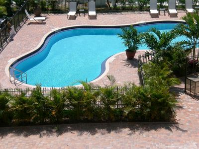 Our beautiful Oasis Pool, awaits your pleasure & relaxation in the Florida Sun.