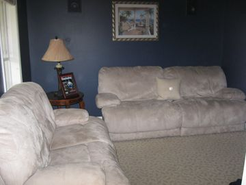 Family Room with Flat Panel TV