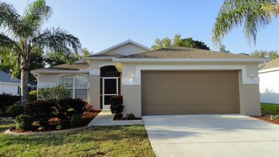 Cape Coral house rental - Front view of 'South Pointe.' Newly repainted March 2013!