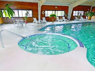 Pinetop cabin photo - Indoor Jacuzzi and Swimming Pool at the PVC at The Roundhouse Resort