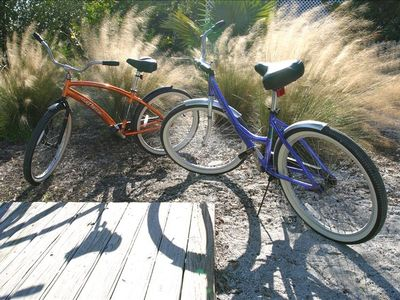 Two beach bikes are included with your stay.
