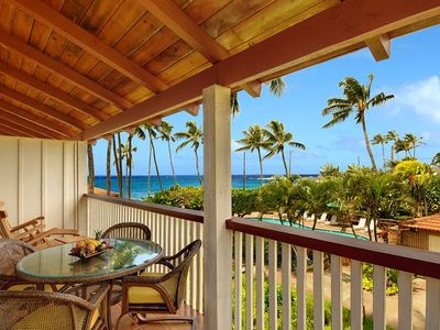 Take in the breathtaking ocean and sunset views from this front lanai