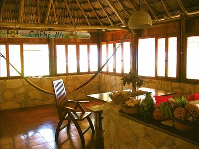 Palapa living room and kitchen