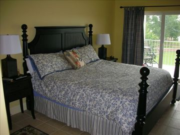 Lewis Smith Lake condo rental - Master Suite with King Bed and balcony view of the lake
