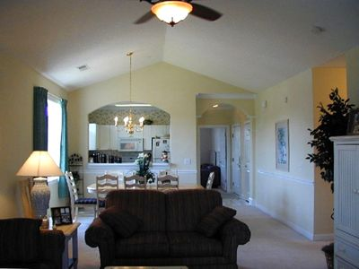 Beautiful end unit with cathedral ceilings, views of both Norman and Love course