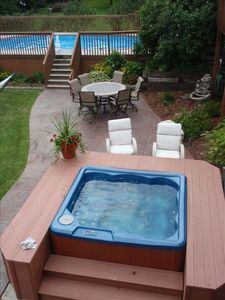 Hot tub, pool, & patio