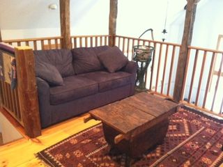Middletown Springs lodge photo - Loft with sleeper sofa