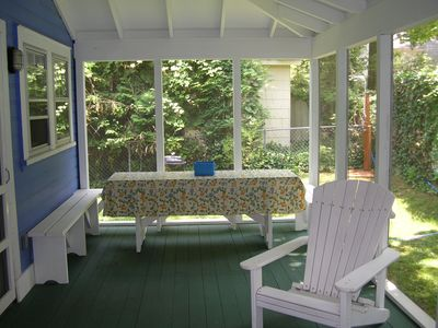 Lakeside cottage rental - Cottage Provencal Screened Porch