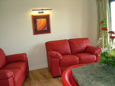 Cheddar cabin rental - Lounge in Somerset lodge