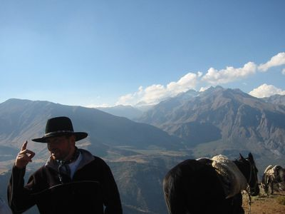 Horseback Riding in the Andes to see the Condors