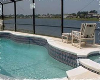 Pool and Deck with Lake View