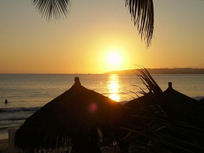 One of the many amazing sunsets you will see on Banderas Bay!