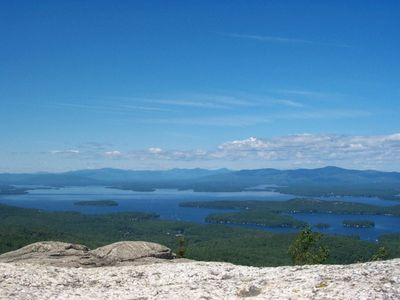 View from Mt. Major (Area Hike) overlooking the broads of Lake Winnipesaukee