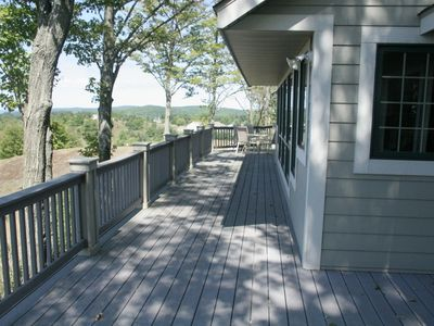 Full length wrap around deck