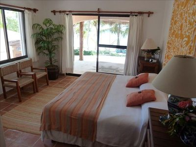 Tankah house rental - Downstairs Master Suite - Poolside & Beachside Comfort & Luxury.