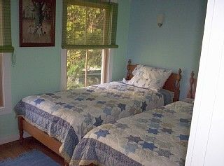 Southwest Harbor cottage photo - Cozy Bedroom with Twins