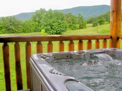 Turbo Jetted Hot Tub with view of Cove Mountain!
