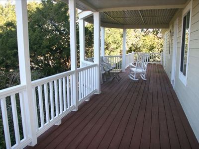 1300 Square Feet of Porches allow activities outdoors even on rainy days
