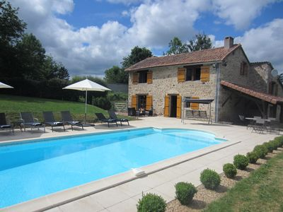 Idyllic farmhouse with private heated pool, 2 acres of Garden, Dordogne