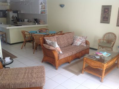 Bonaire condo rental - Living/Dining