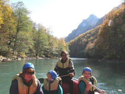 Rafting Tara Canyon just 18km away in October