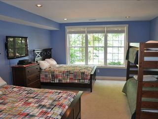 Lake Gaston house photo - Bdrm #5 - 2 New Qu beds, twin bunks, 42' sat hdtv, full bath, lake side view