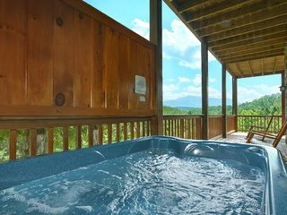 Pigeon Forge cabin photo - Hot Tub #2. Privacy and Seclusion and still-a fantastic view!