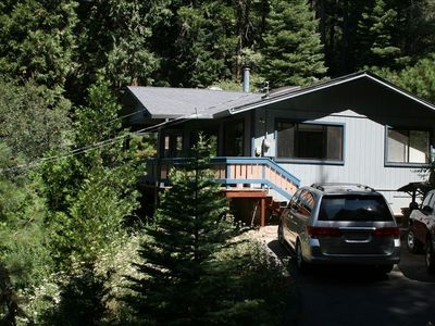 Pollock Pines cabin rental - Top of driveway, room for 2 cars.