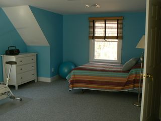 Vineyard Haven house photo - Upstairs bedroom with two twins and full size bed