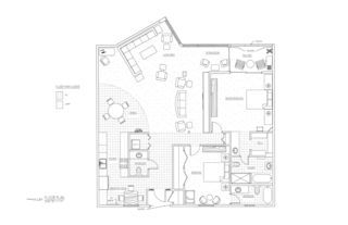 Deerfield Beach condo photo - Floor plan of Condo with furniture layout