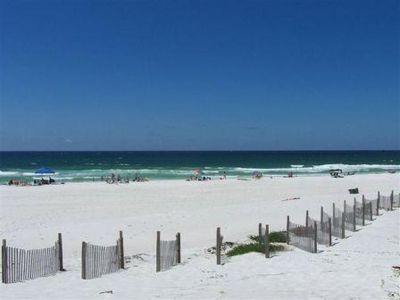 The sugar white sand and emerald waters of Destin!