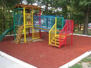 What a great play area close to shelter houses and the pool!