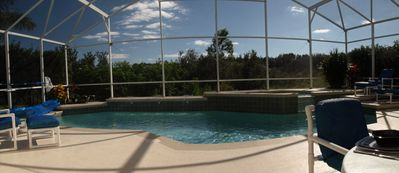 Pool view panorama