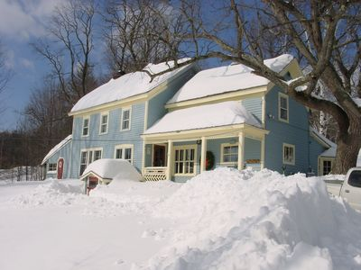 North Creek farmhouse rental - Valentines Day Blizzard