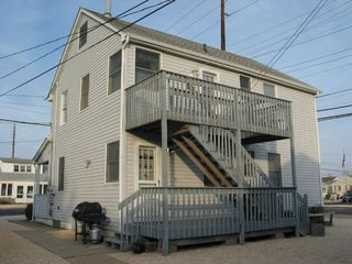 Lavallette house photo - Top unit evening sun w/ sm deck. Lower unit rear entrance both w/ off st parking