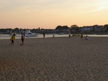 Enjoy sunsets at the beach steps away House-great Hyannis Harbor views