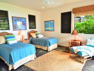Poipu house photo - Ocean view Bedroom #4 ( king or twins )