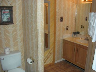 1 of the 2 large bathrooms - both have showers with Bathtub