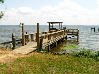 Huxley house photo - New fishing pier, electric, fresh water & cleaning station