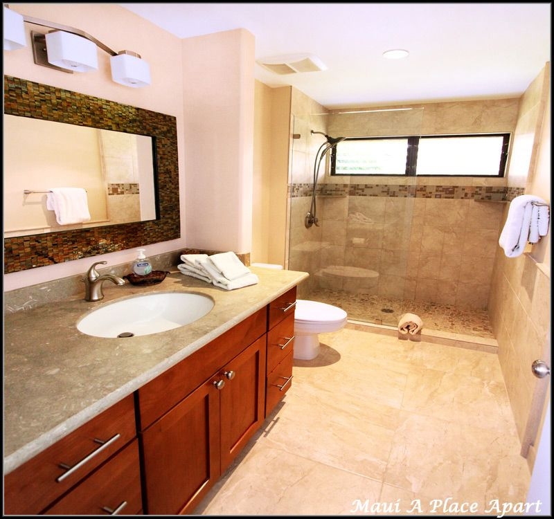 Vanity/Shower from unit 28F Ekahi Village, One Bed-Two Bath, Ocean View