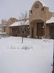 Santa Fe estate photo - snowy morning on the mountain...magic!