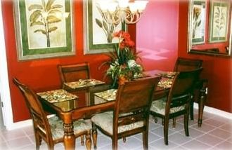 Dining Room that seats six people