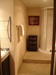Snow Blaze condo photo - View of newly renovated hall bathroom and shower