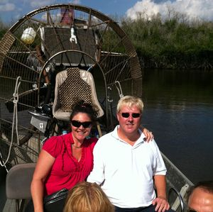 Brian and Amy on an airboat tour.
