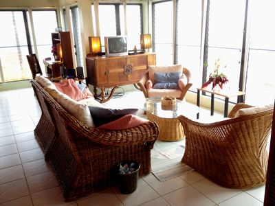 Sitting area, ocean views, TV, bluetooth DVD, stereo for CD, iPod, iPad, iPhone