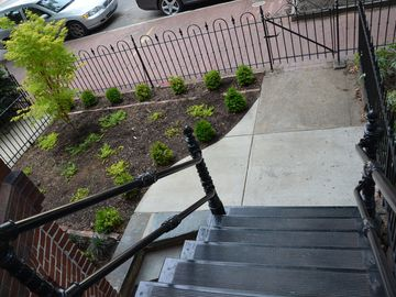 Front Garden and Cast-Iron Staircase