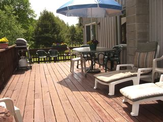Woodstock house photo - Large deck - overlooks large 2 acre yard and Lake