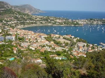 The lovely bay at Villefranche-sur-mer